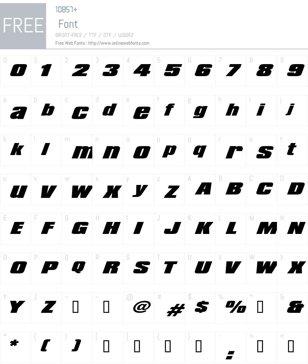 LHF Convecta BASE Font Screenshots