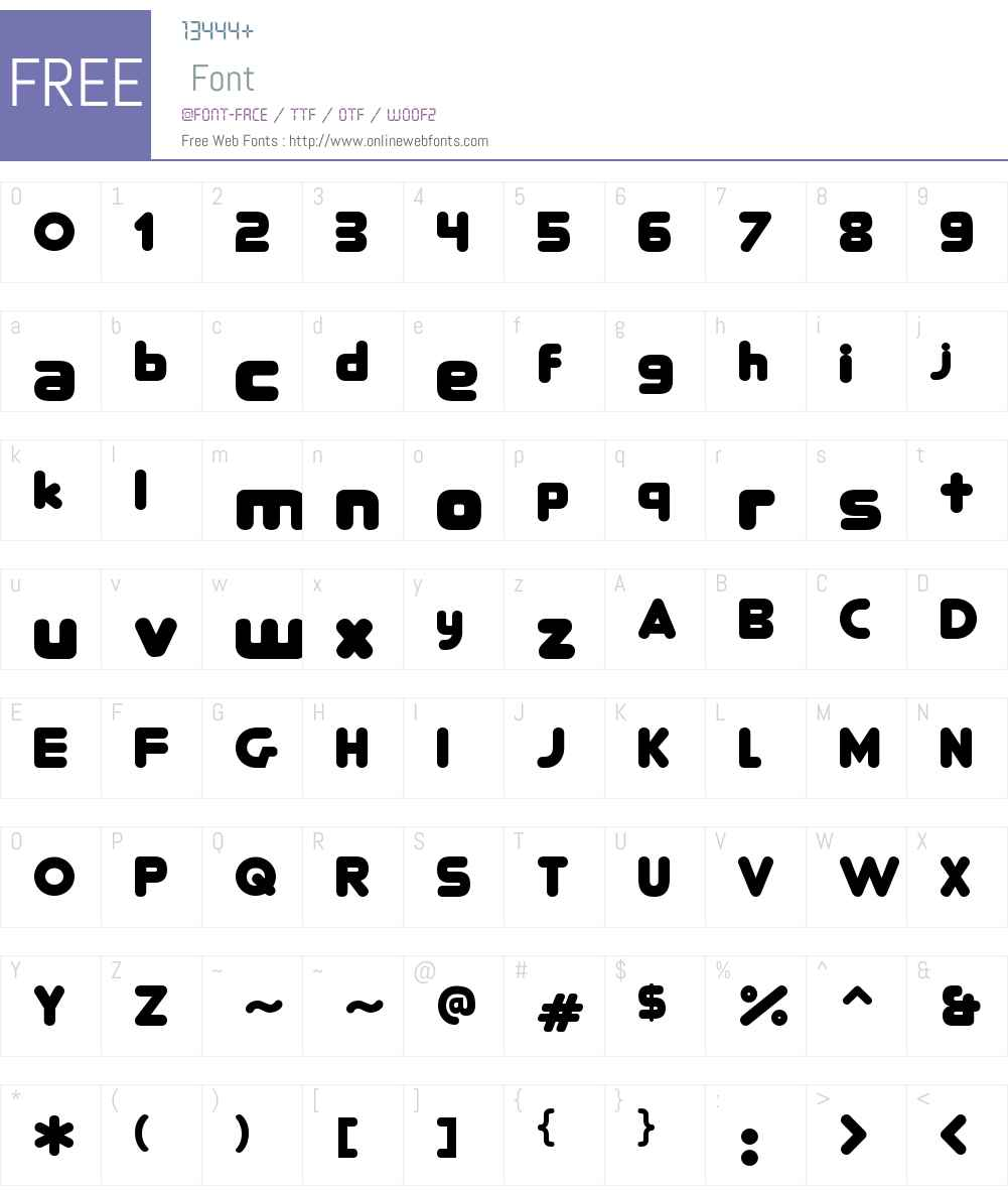 RoundFit Lowercase Extended Font Screenshots