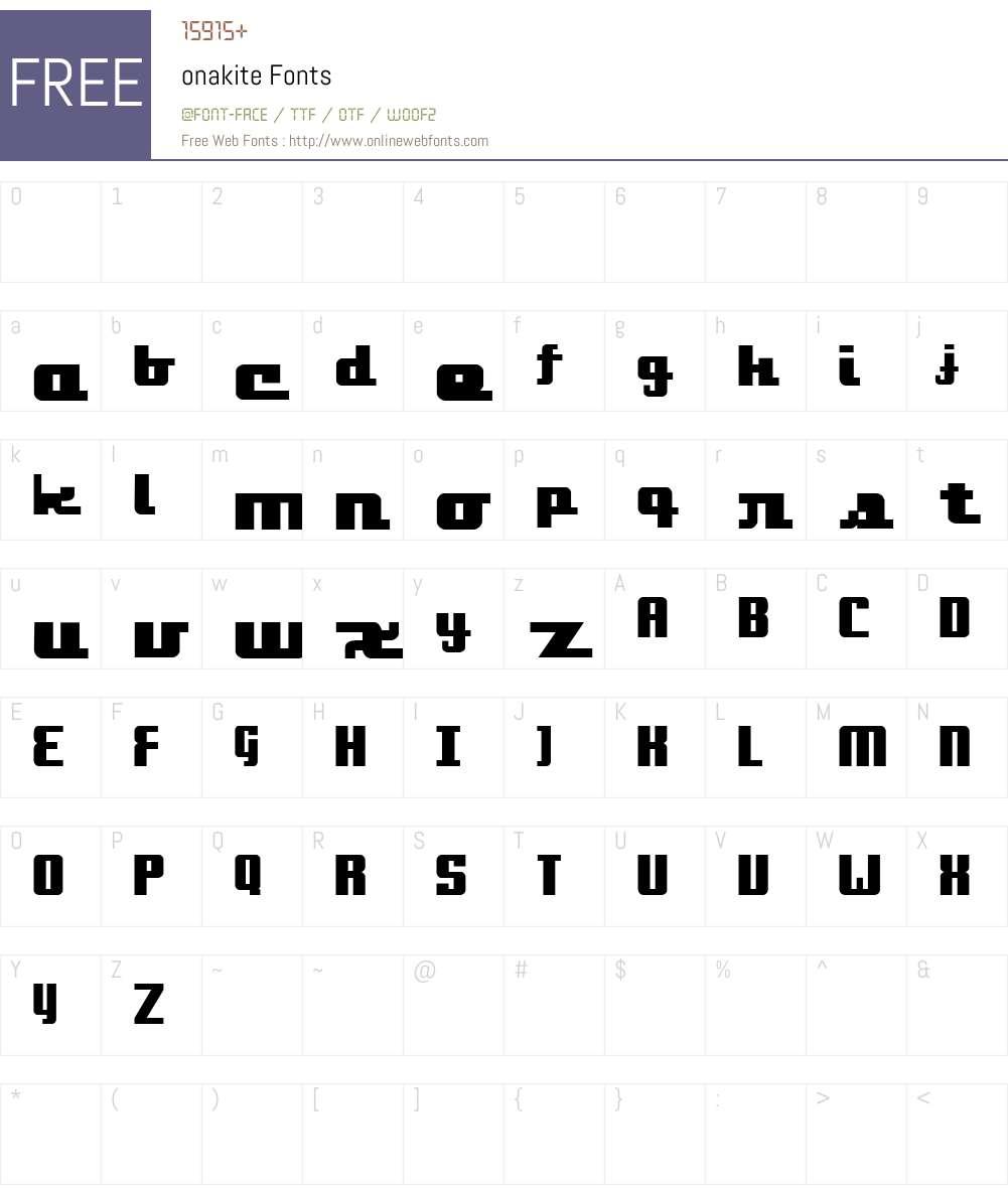 onakite Font Screenshots