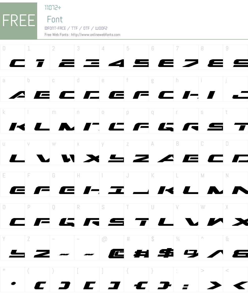 Outrider Expanded Bold Italic Font Screenshots