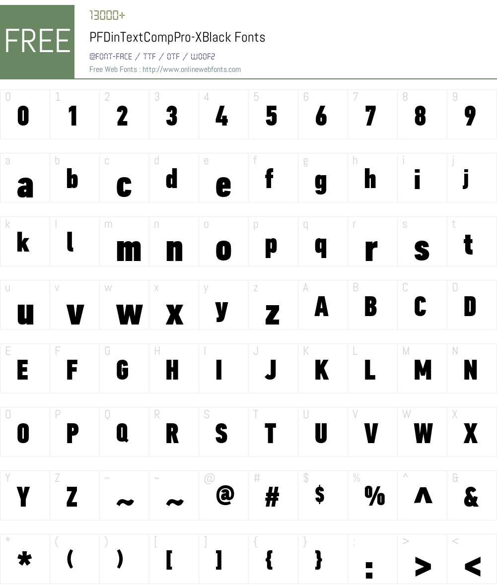 PF Din Text Comp Pro Font Screenshots