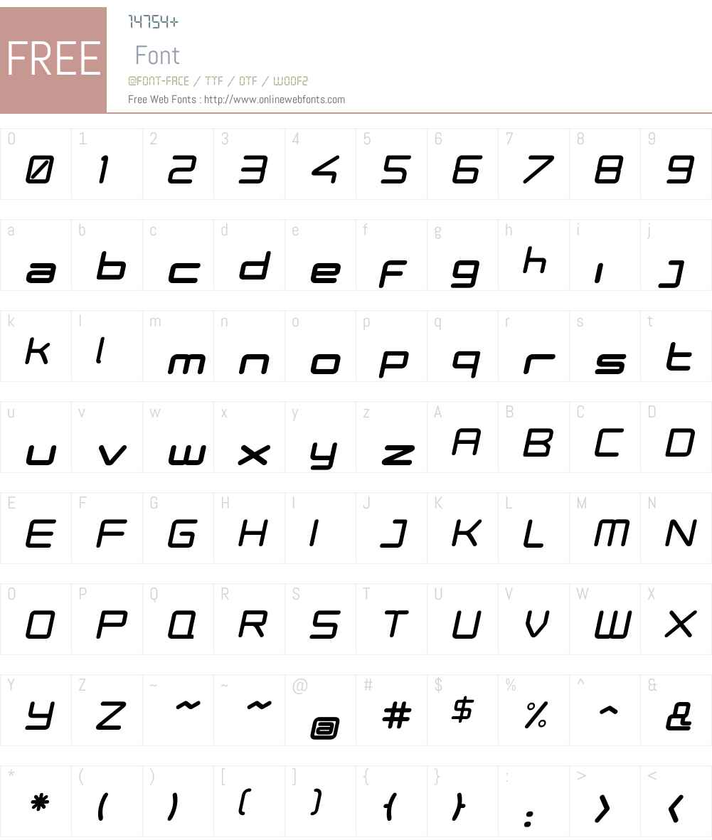 Phuture ODCBlack Oblique Font Screenshots