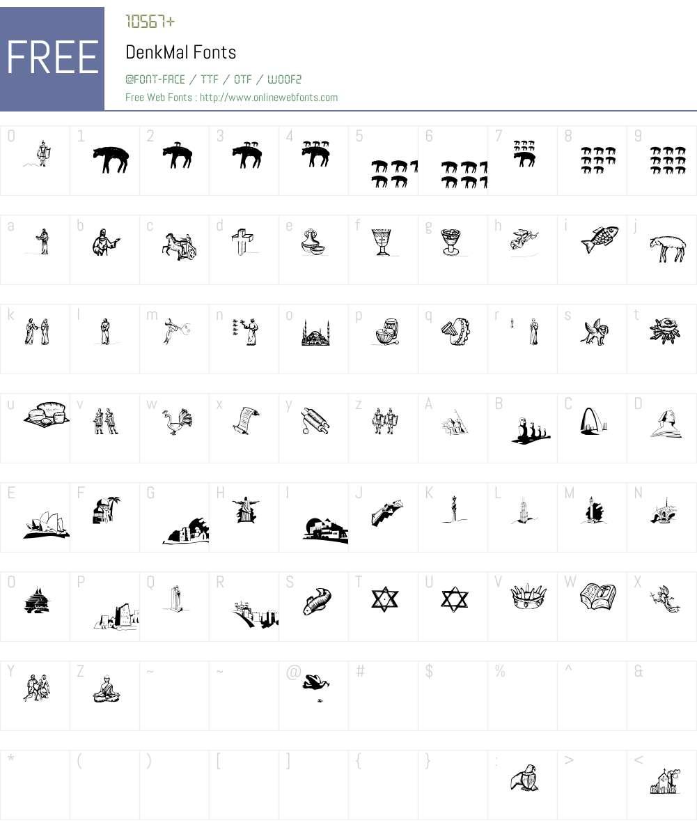 DenkMal Font Screenshots