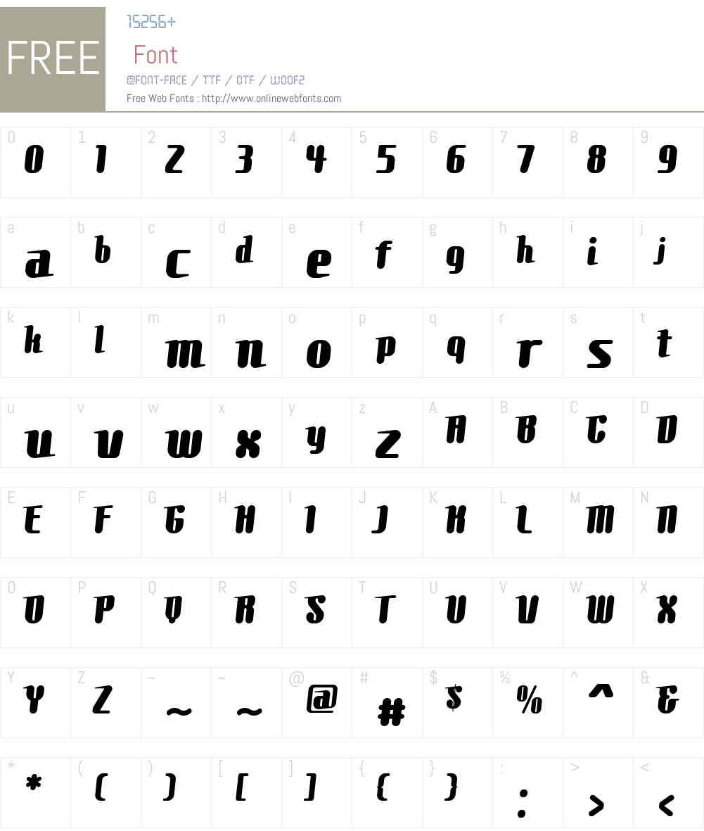 Comons Font Screenshots