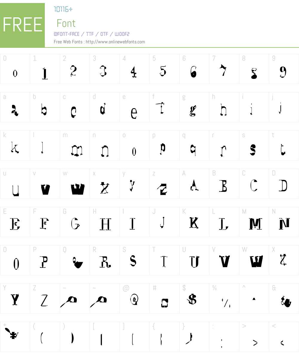 Syzygy Font Screenshots