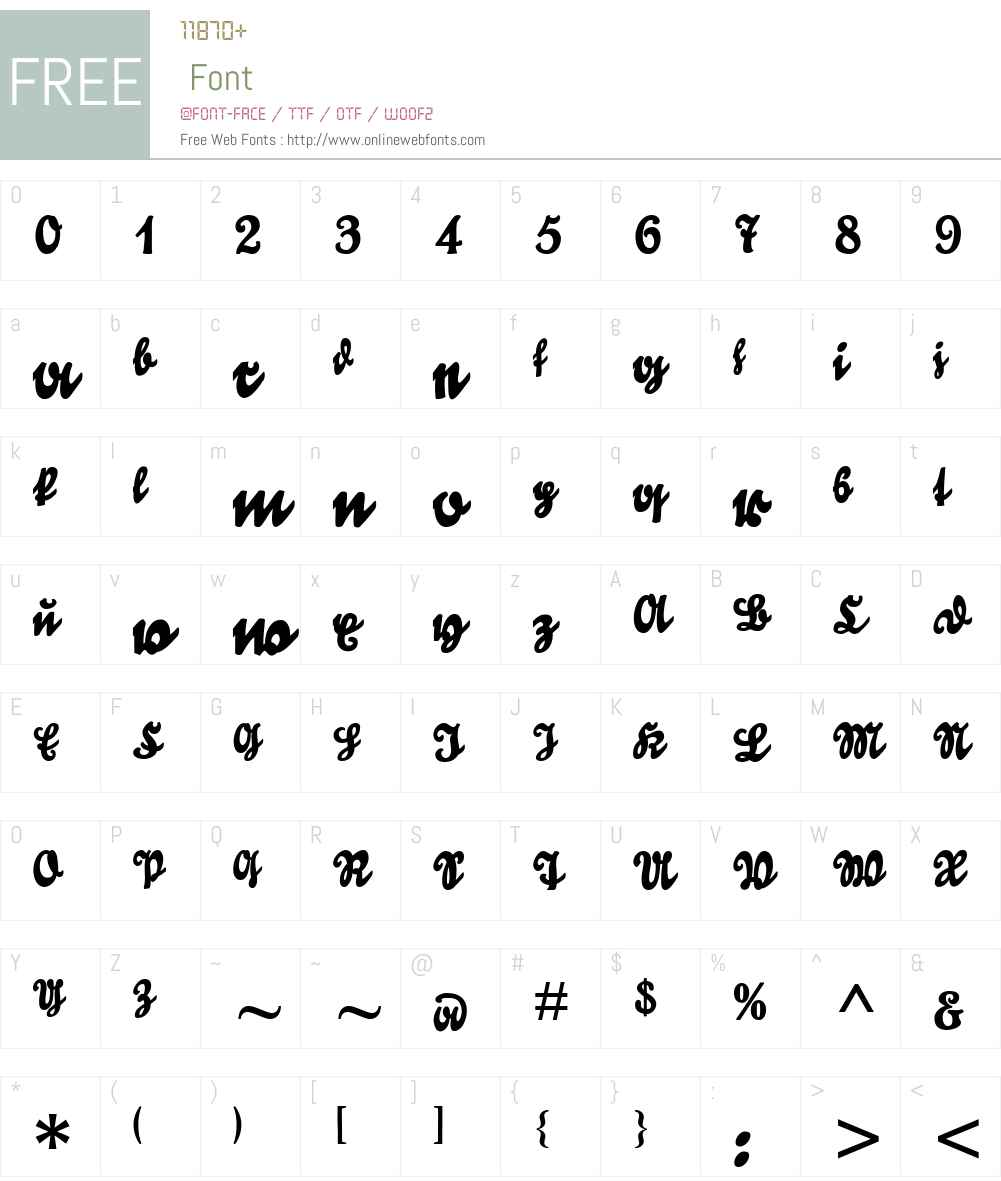 Goldmarie UNZ1T# Font Screenshots