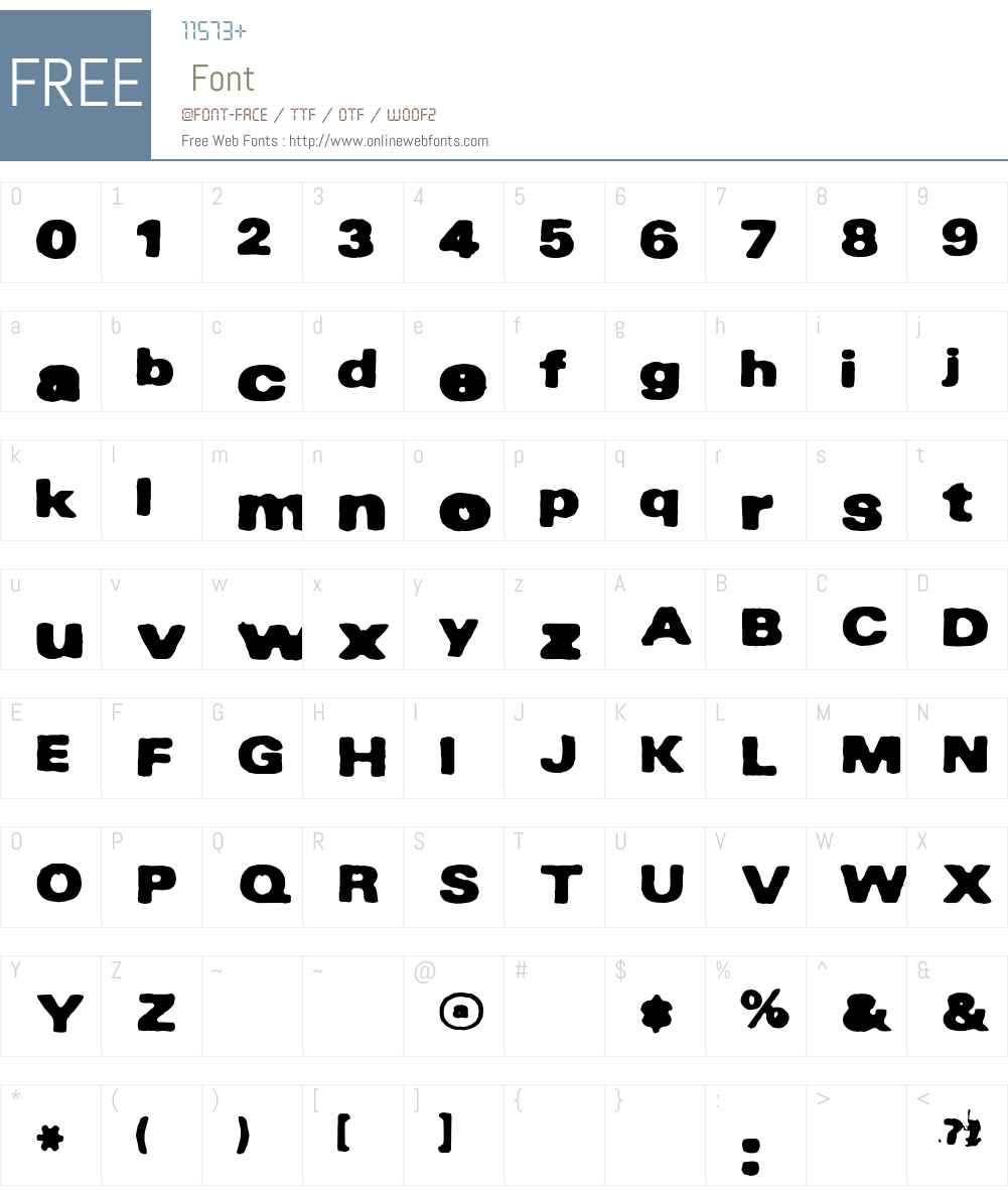 INKy Font Screenshots