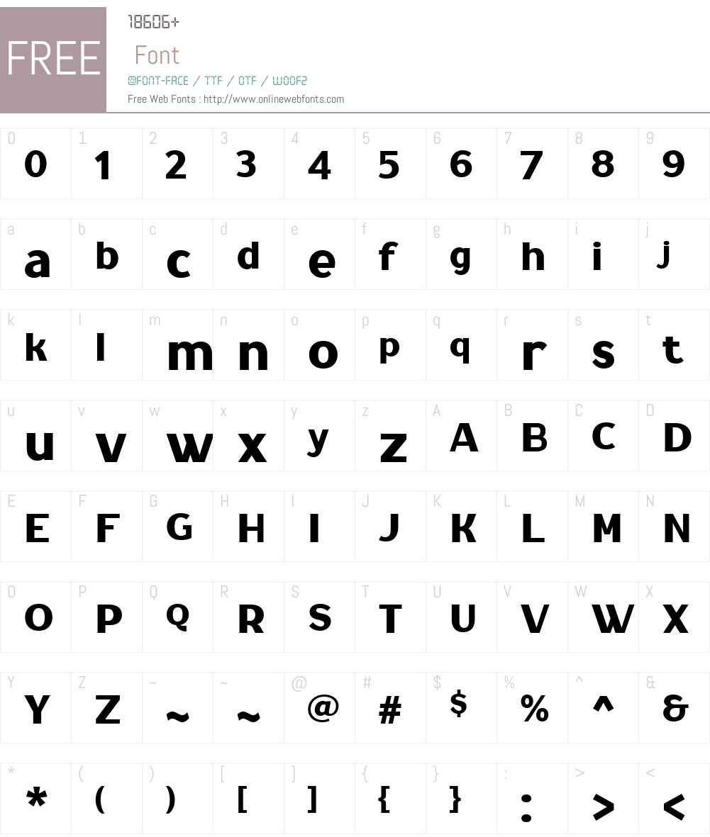 NaiveGothicFYW01-Regular Font Screenshots