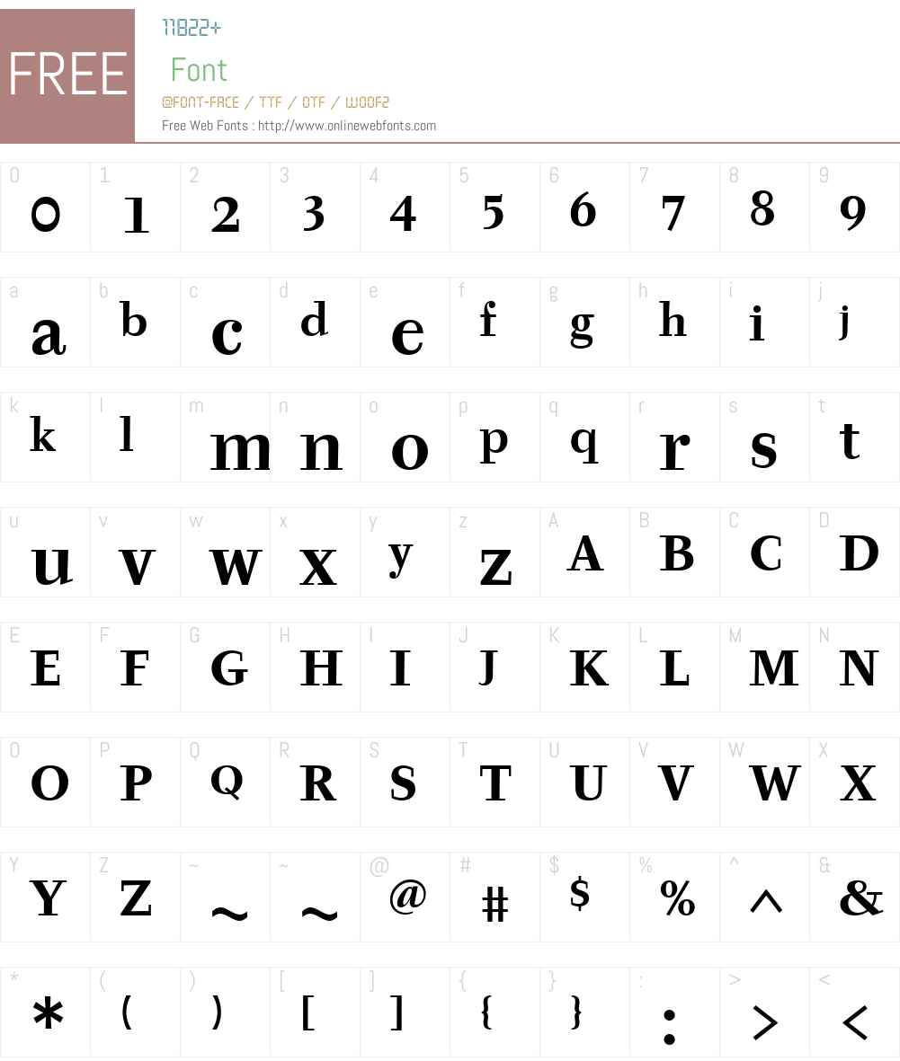 TyfaITC TT Font Screenshots