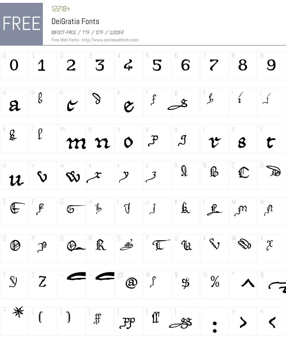 DeiGratia Font Screenshots