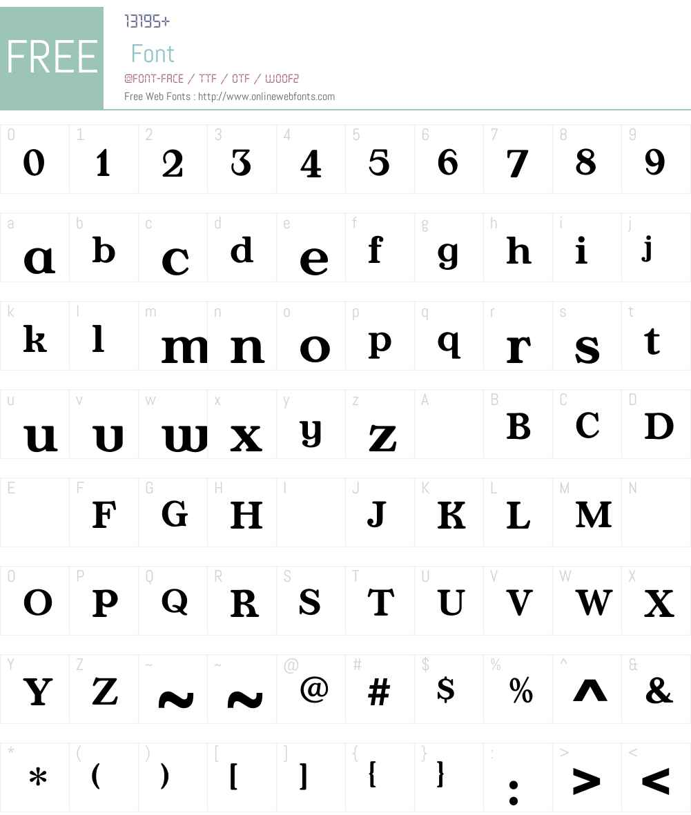 AppleyardMedium Font Screenshots