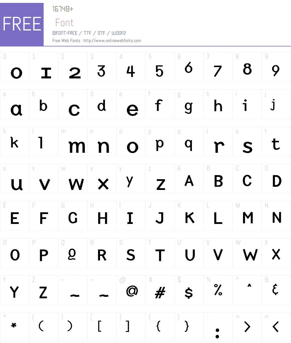 NewtW00-Bold Font Screenshots