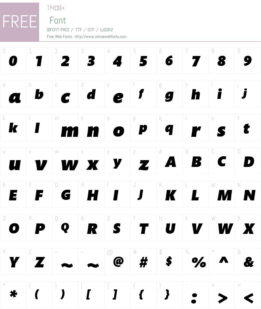 MundoSansW01-UltraItalic Font Screenshots