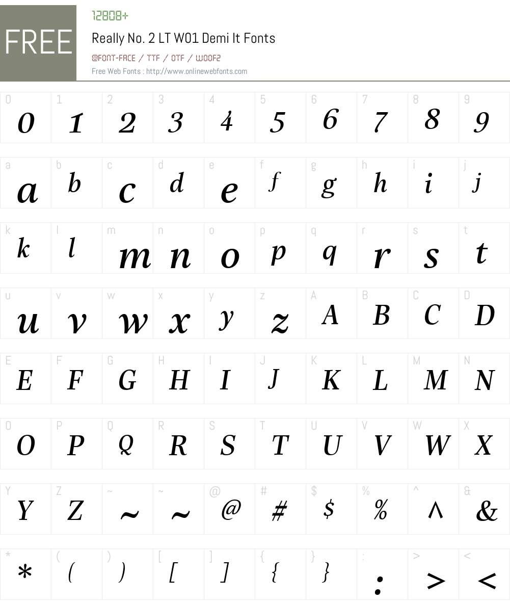 ReallyNo.2LTW01-DemiIt Font Screenshots