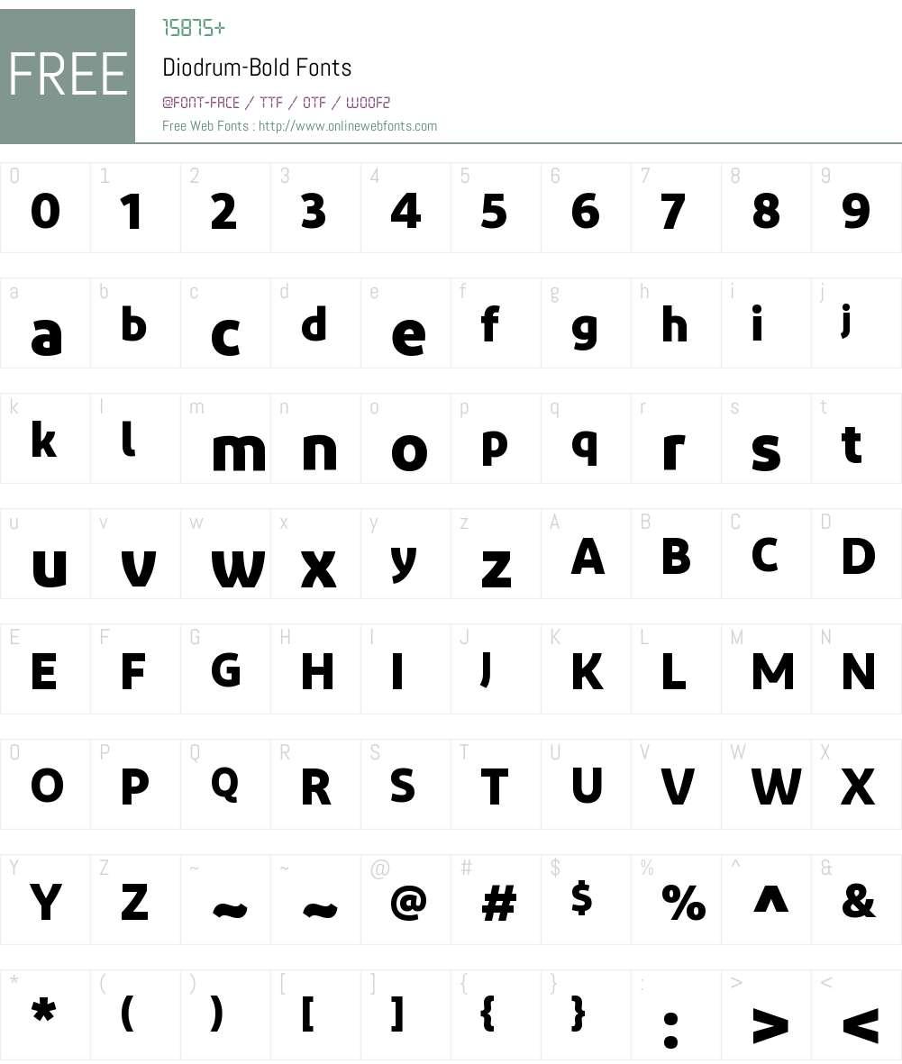 Diodrum Font Screenshots