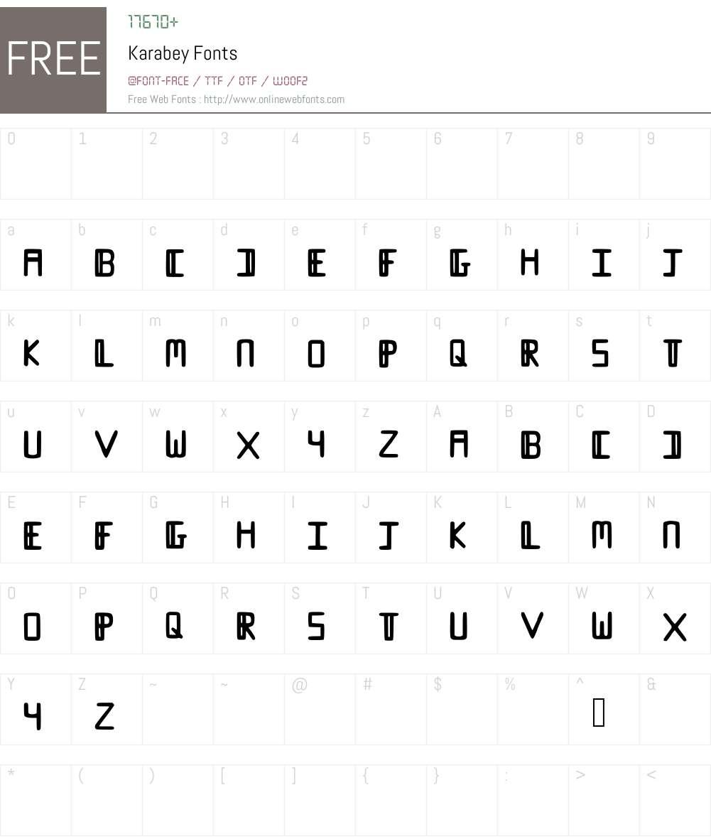 Karabey Font Screenshots