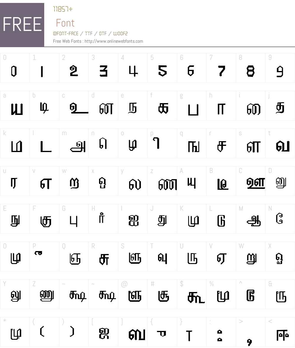 EELANADU Font Screenshots