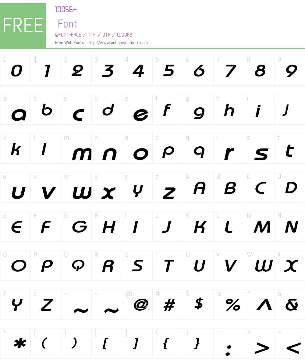 Bimini Wide Font Screenshots