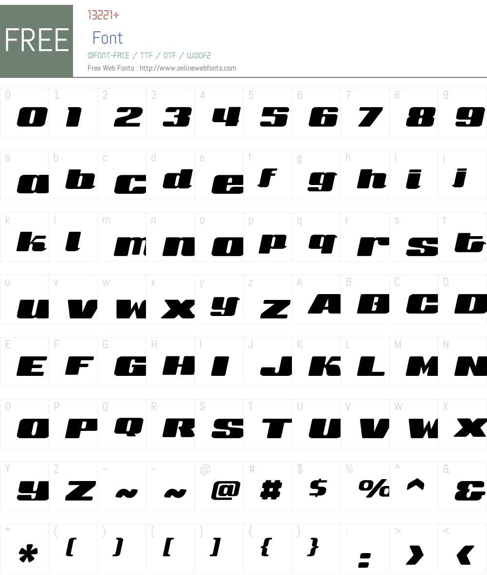 SneakersScriptUltraWide Font Screenshots