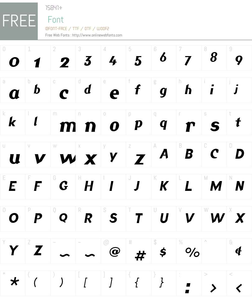 Jackdaw Font Screenshots
