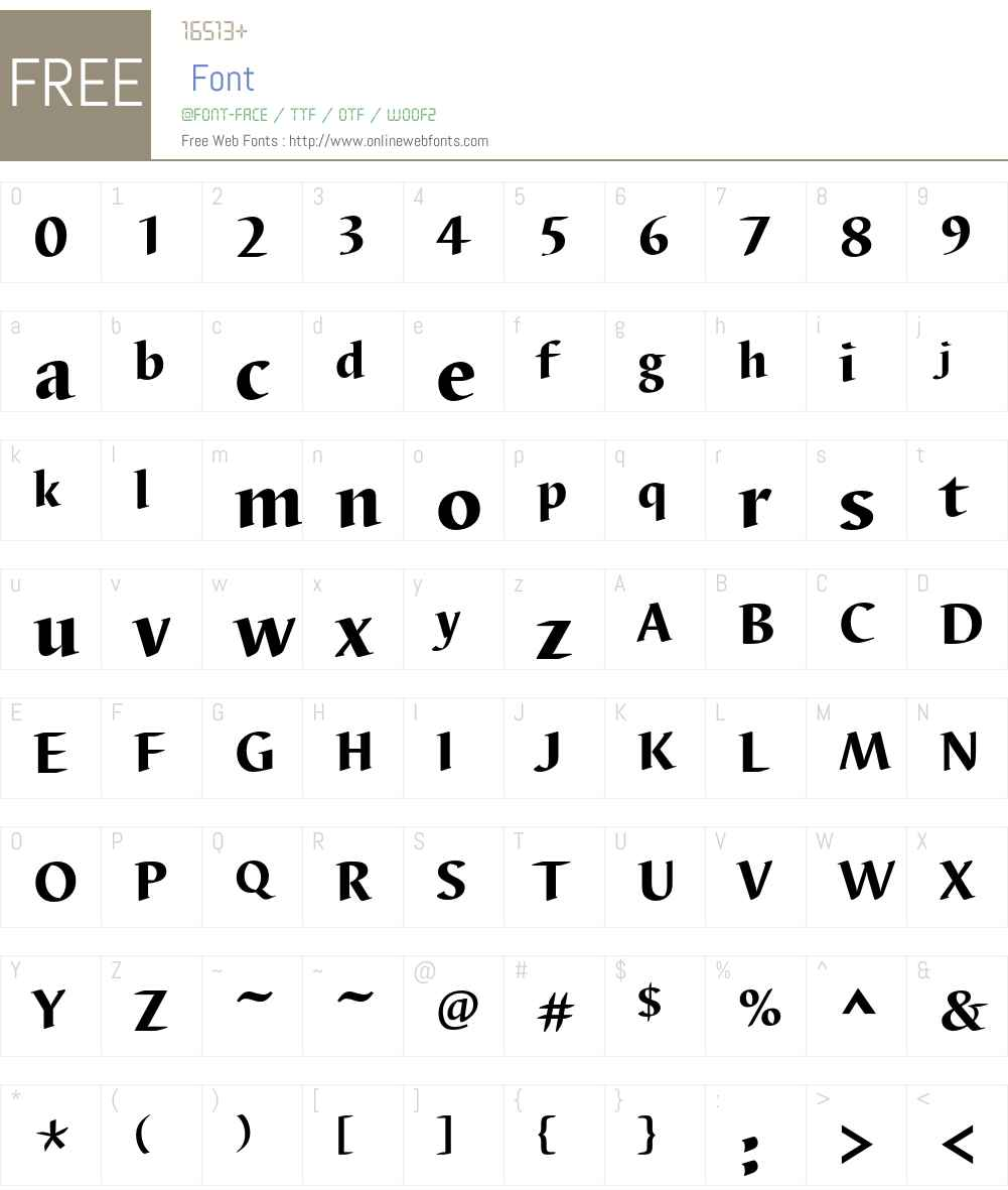 Barbedor T Font Screenshots