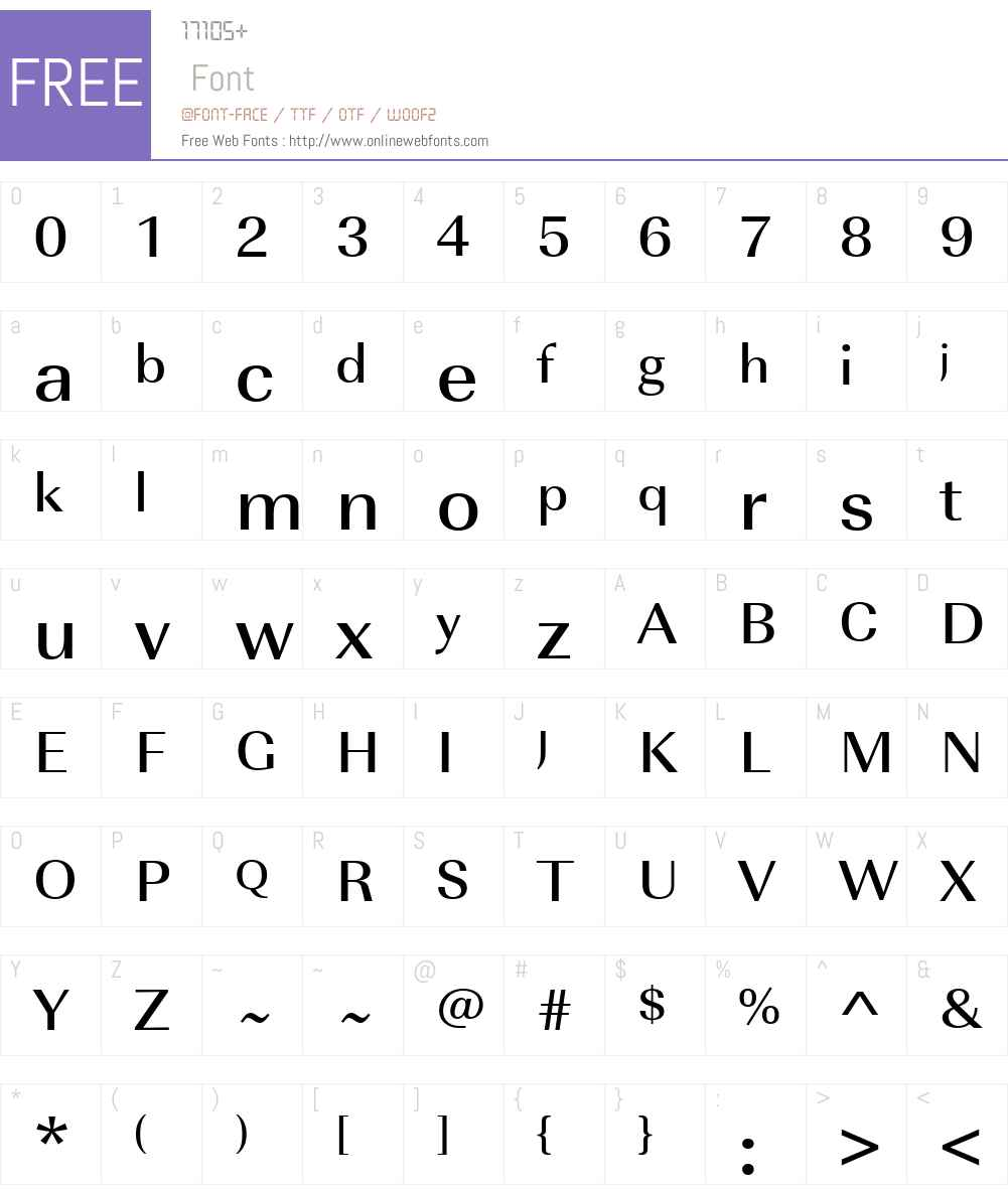 URWImperialTMedWid Font Screenshots