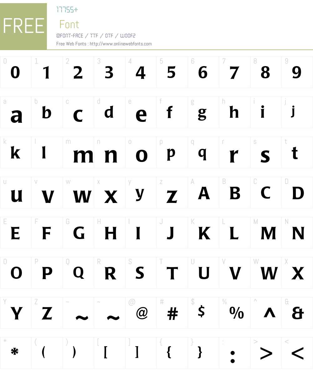 Poppl-Laudatio Font Screenshots