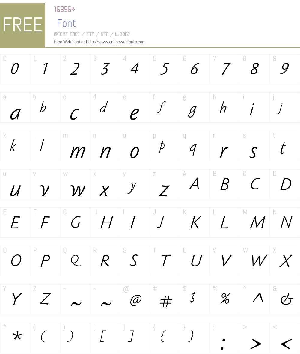 Sebastian Light Pro Font Screenshots