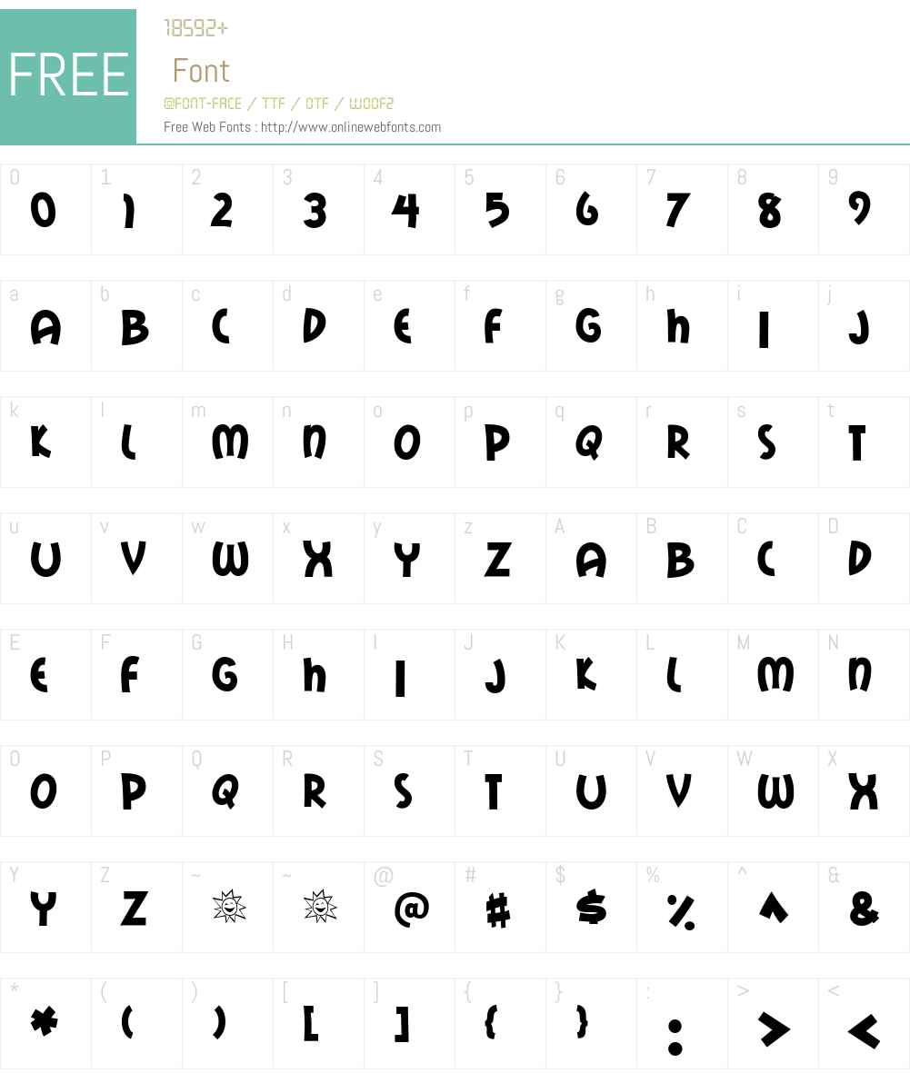 Mail Ray Stuff Font Screenshots