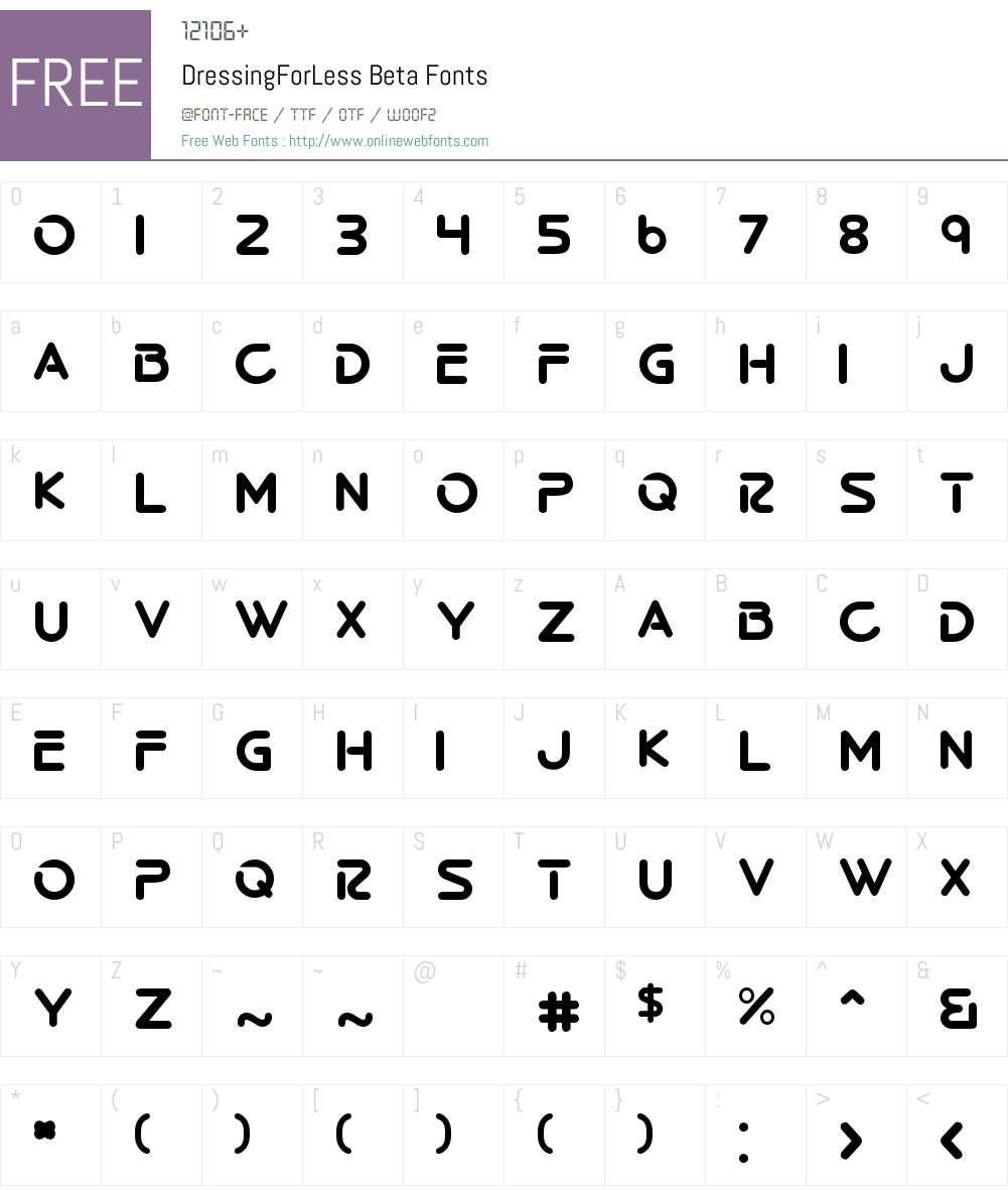 DressingForLess Beta Font Screenshots