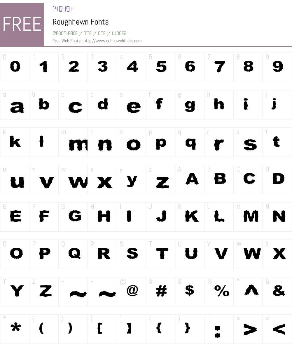 Roughhewn Font Screenshots