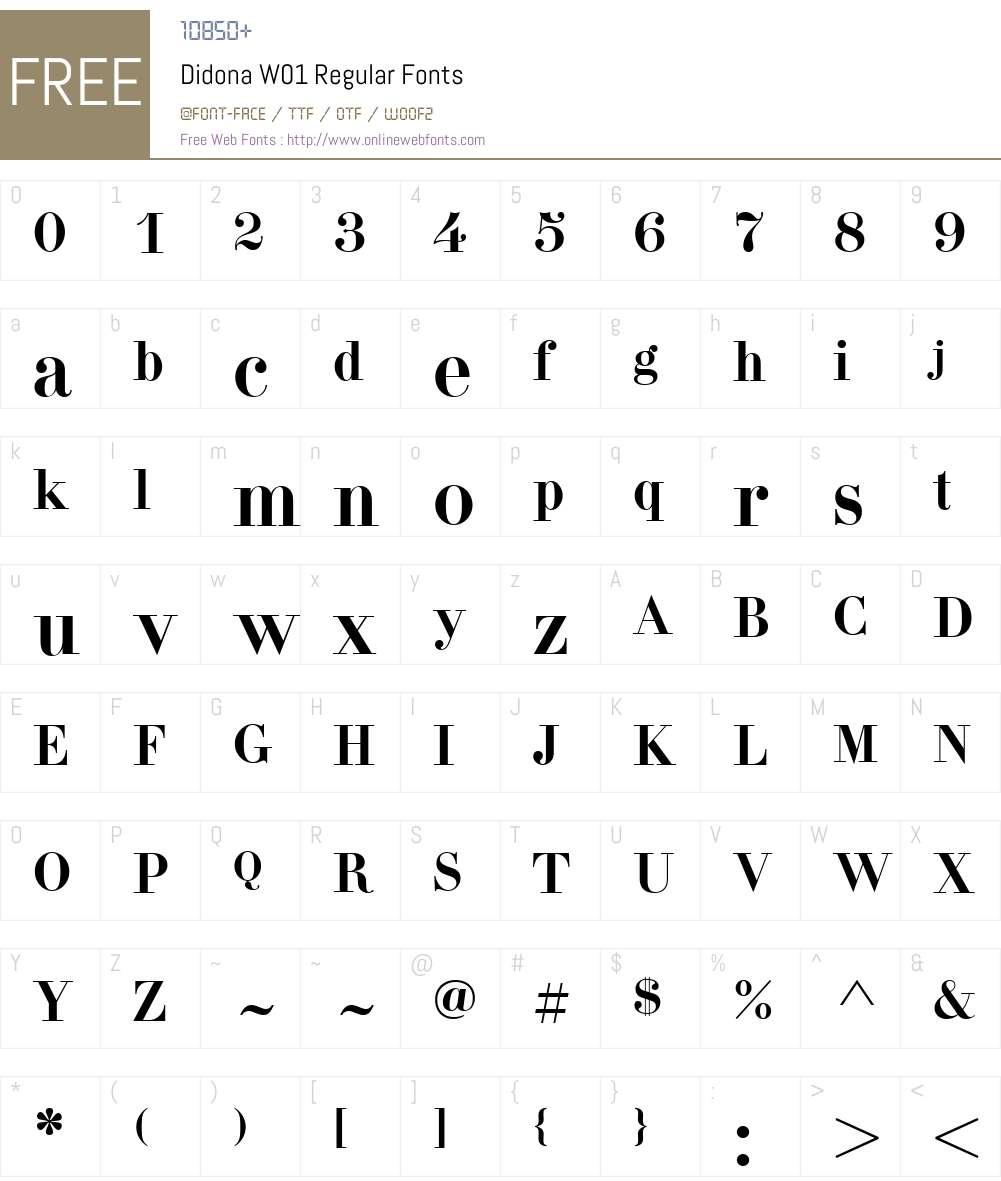 DidonaW01-Regular Font Screenshots