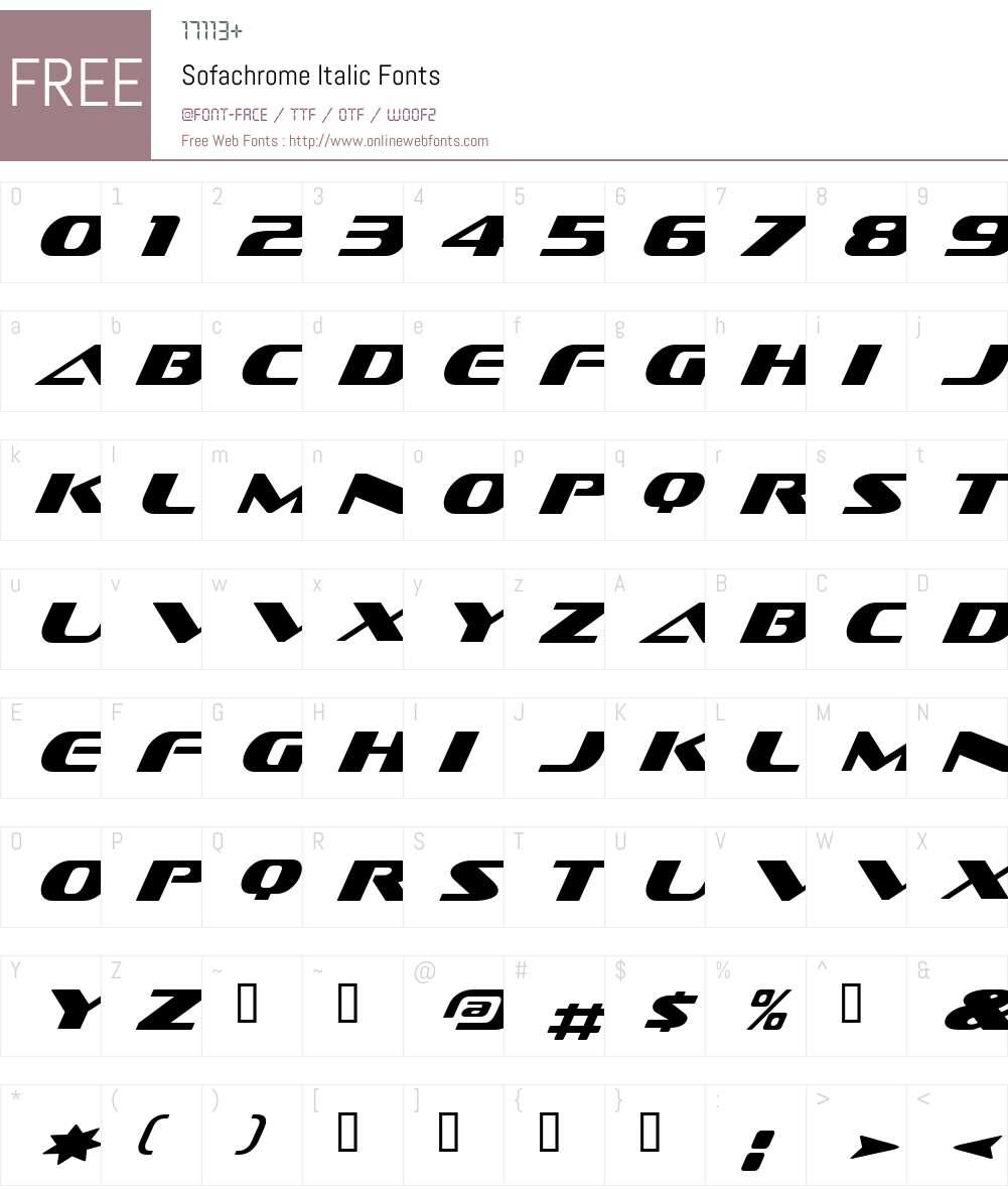 Sofachrome Book Italic
