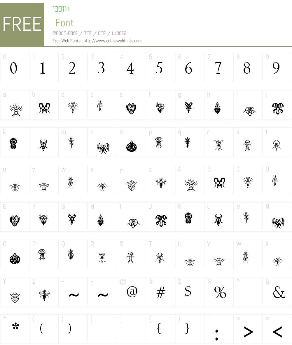 aliens Font Screenshots