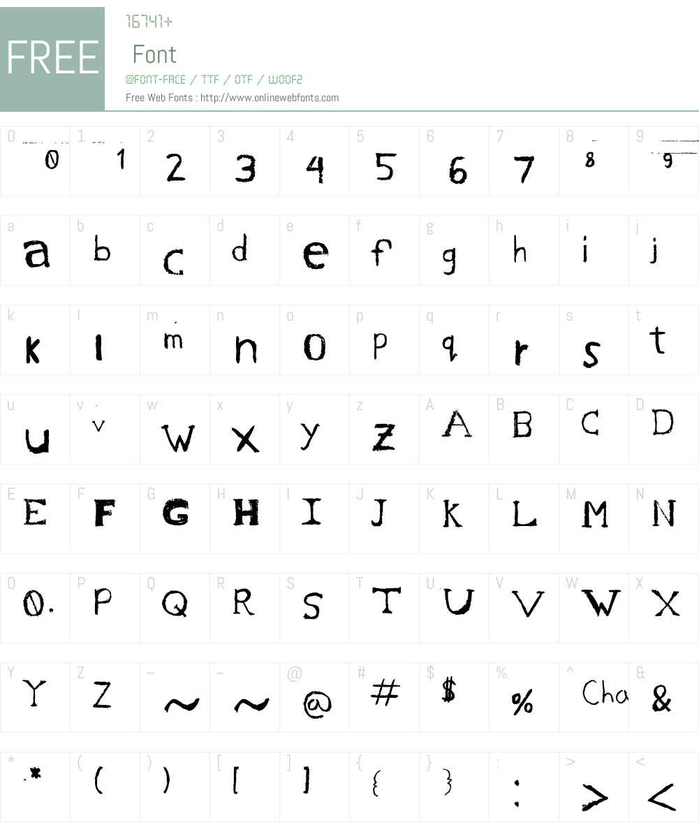 Chase's Sketch Font Screenshots
