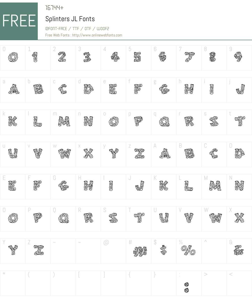 Splinters JL Font Screenshots