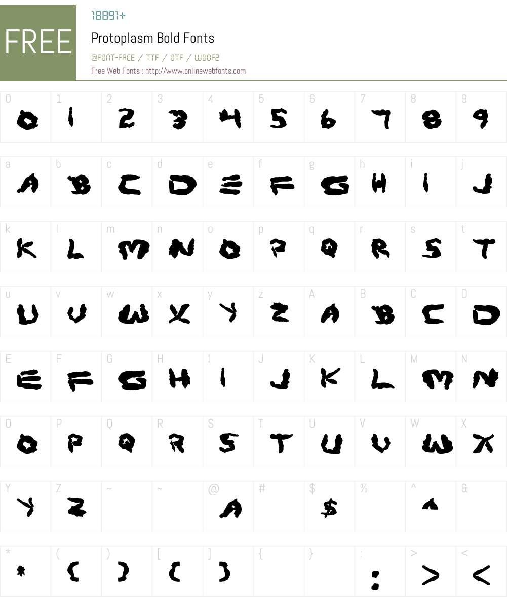 Protoplasm Bold Font Screenshots