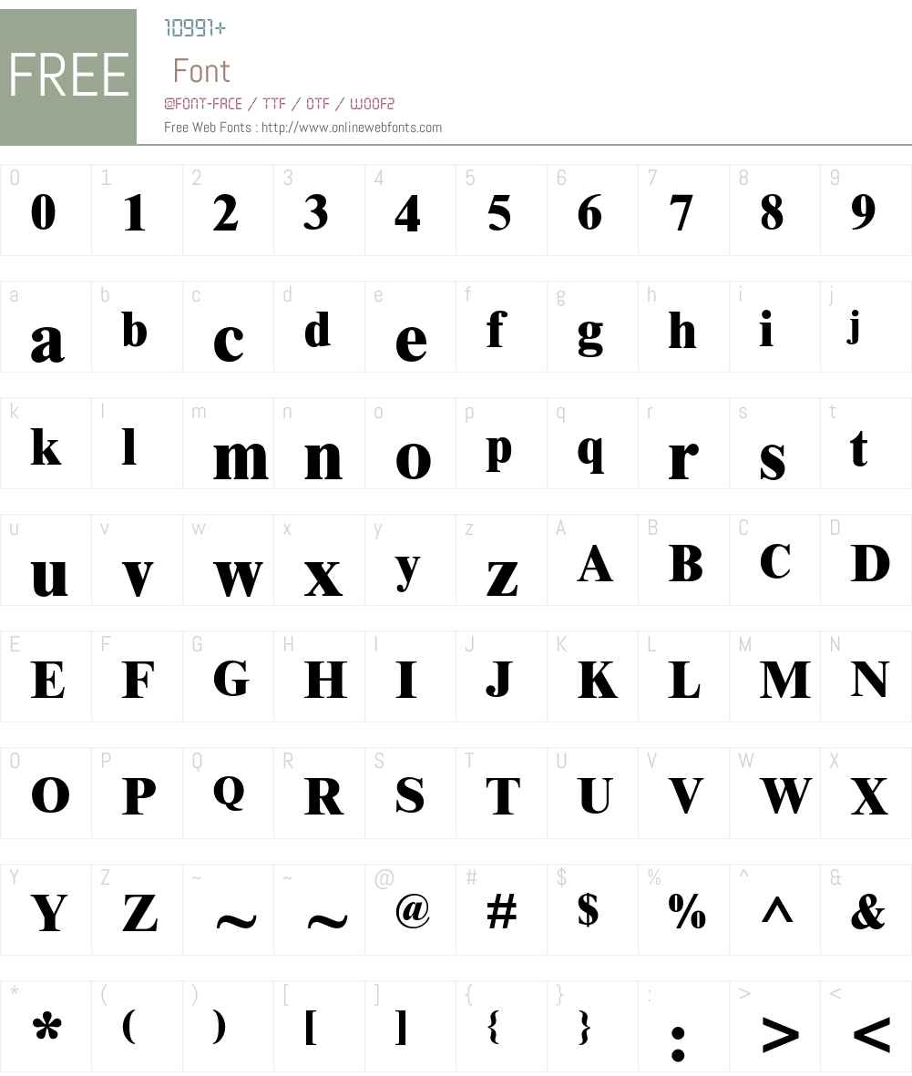 Times New Roman Font Screenshots