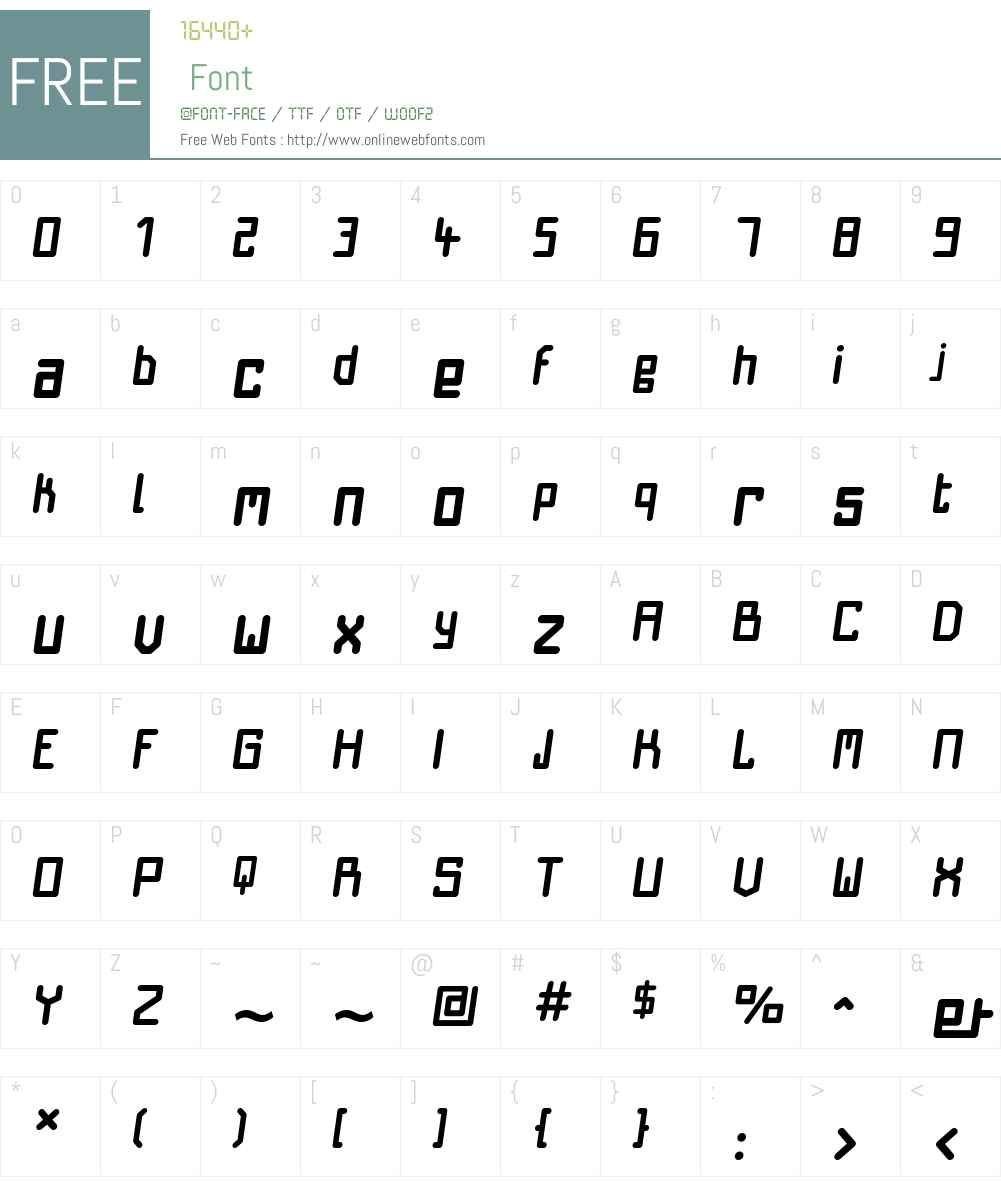 NautiloBoldOblique Font Screenshots