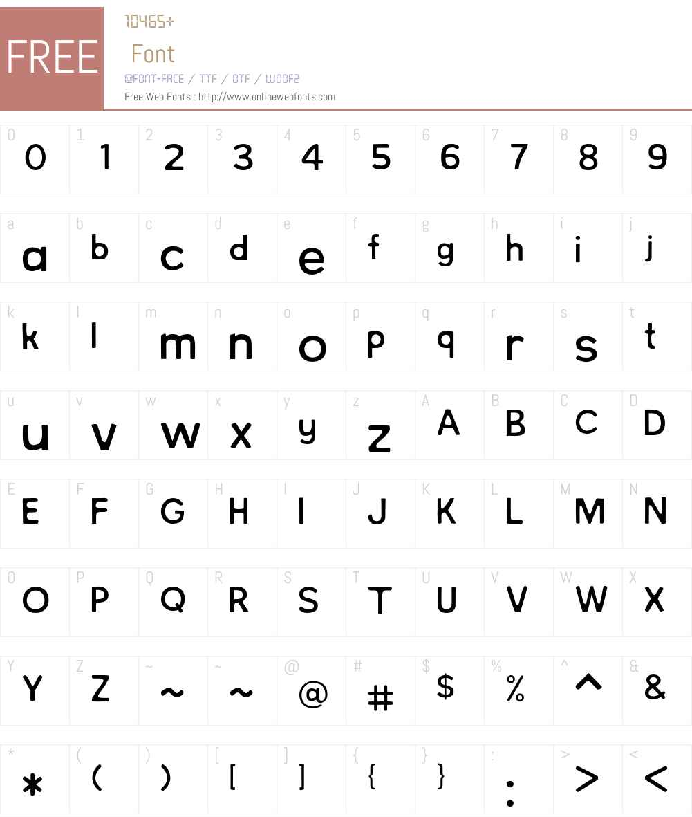 NorthBergen Font Screenshots