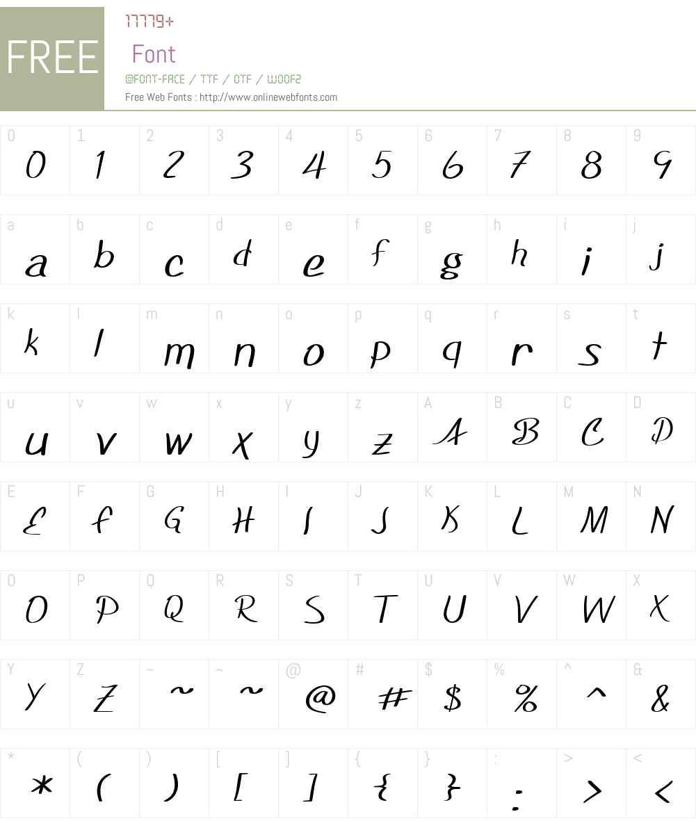 SF Foxboro Script Extended Font Screenshots