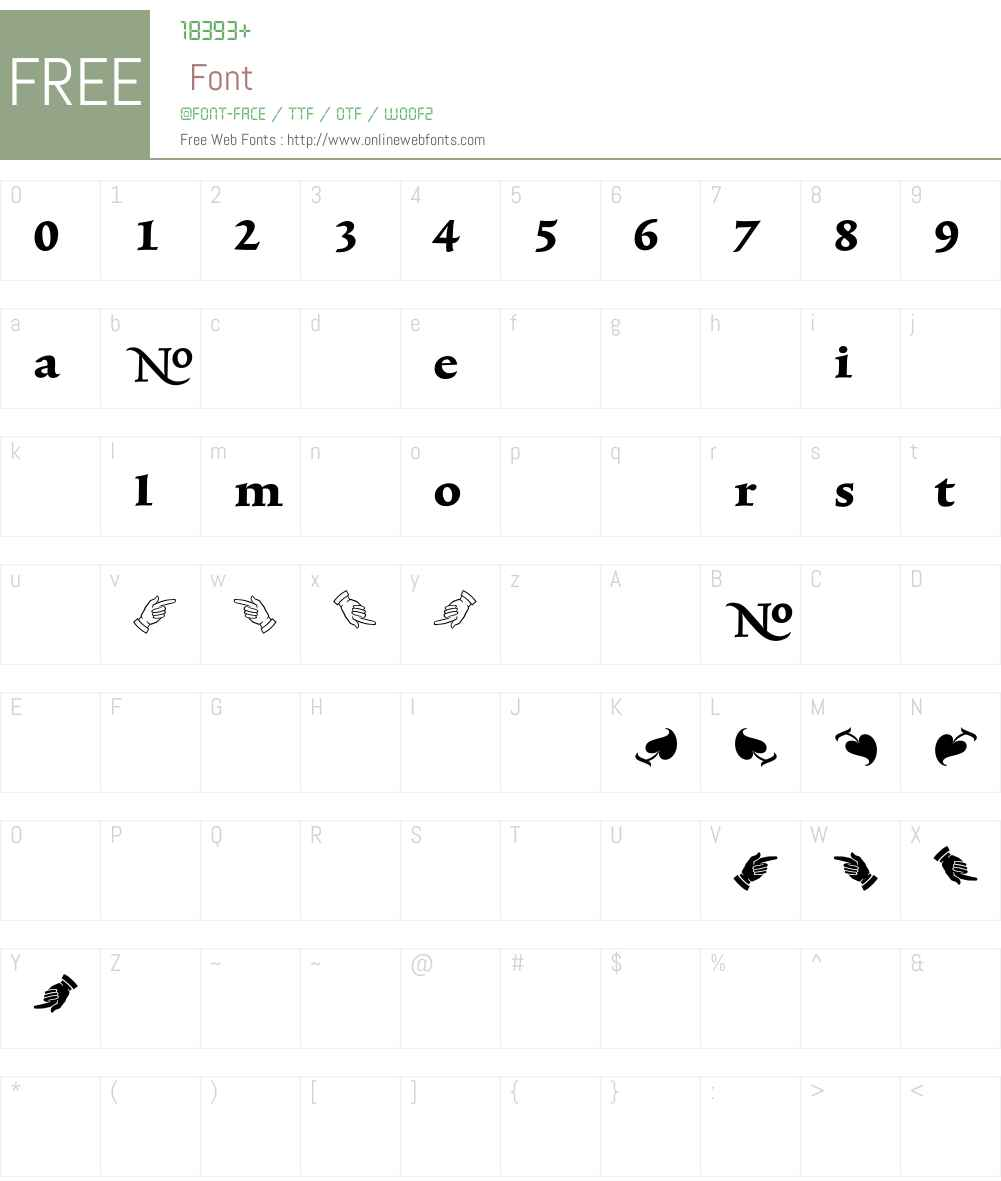 TriniteNo1 Font Screenshots