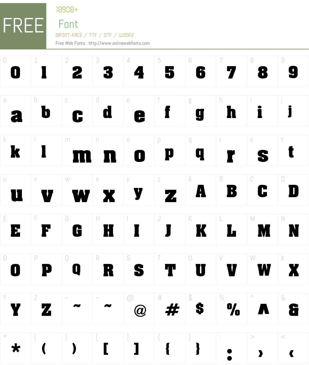 BigBlox Font Screenshots
