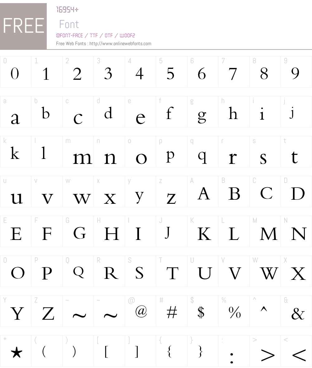 O`SOiwNf Font Screenshots