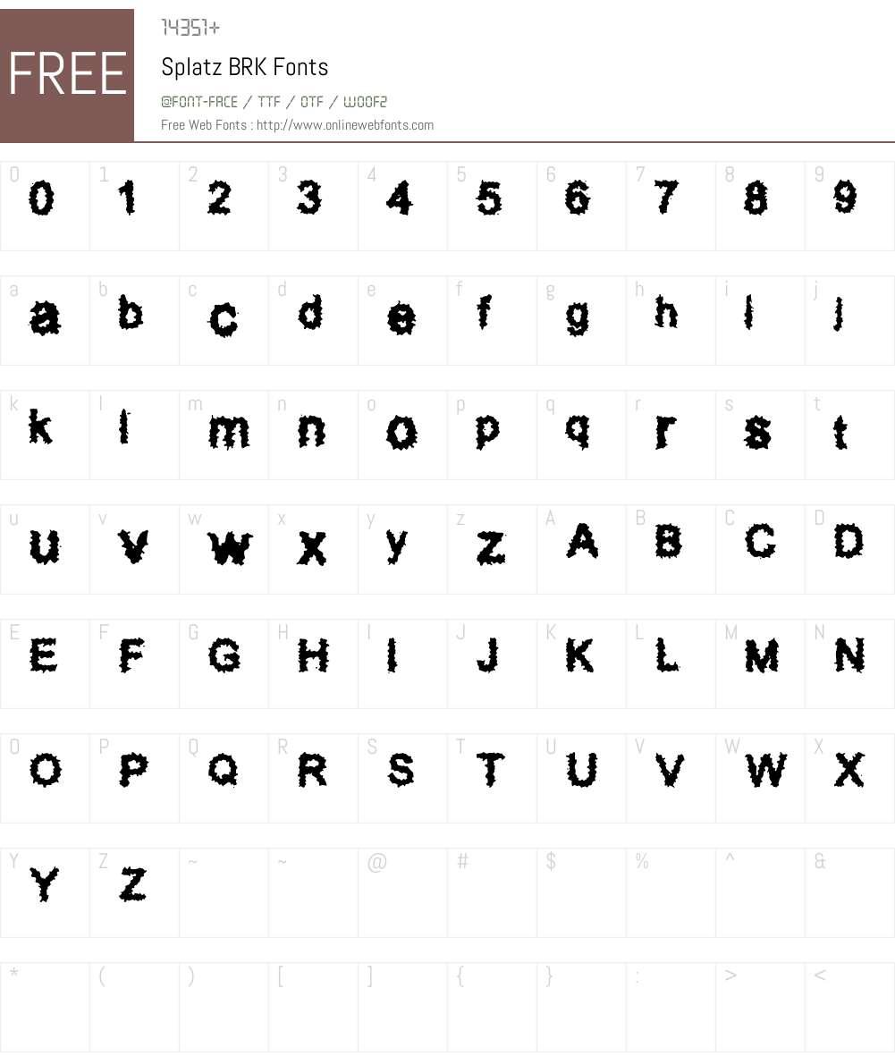 Splatz BRK Font Screenshots