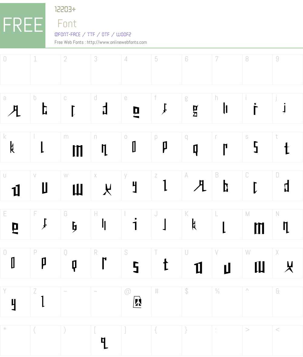 Peacetiqua Font Screenshots