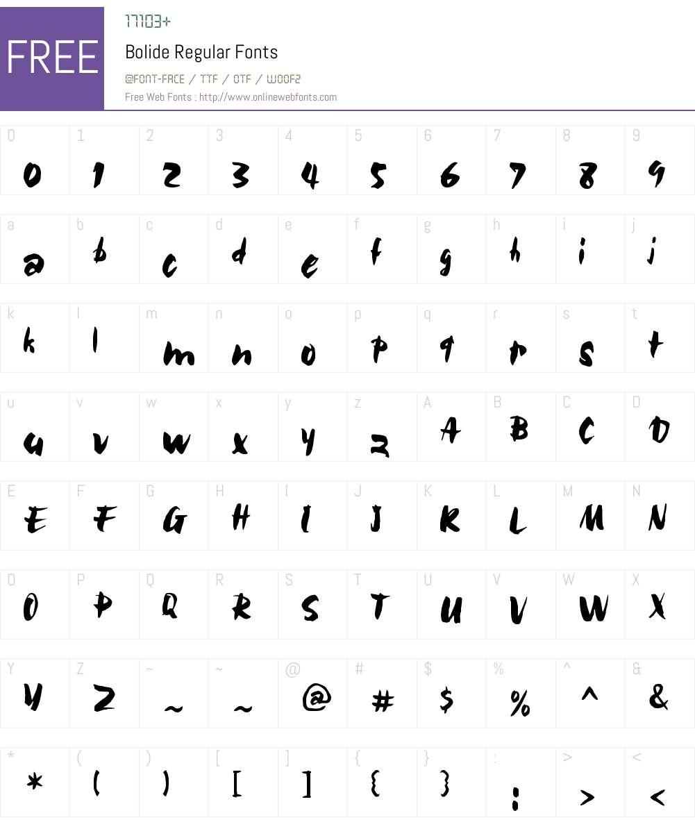 Bolide Font Screenshots