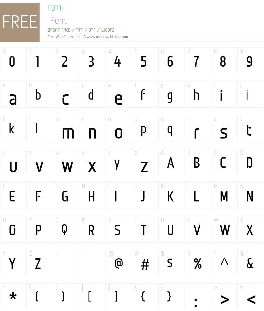 Monitorica Font Screenshots