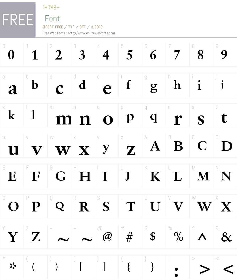 Sabon eText Font Screenshots