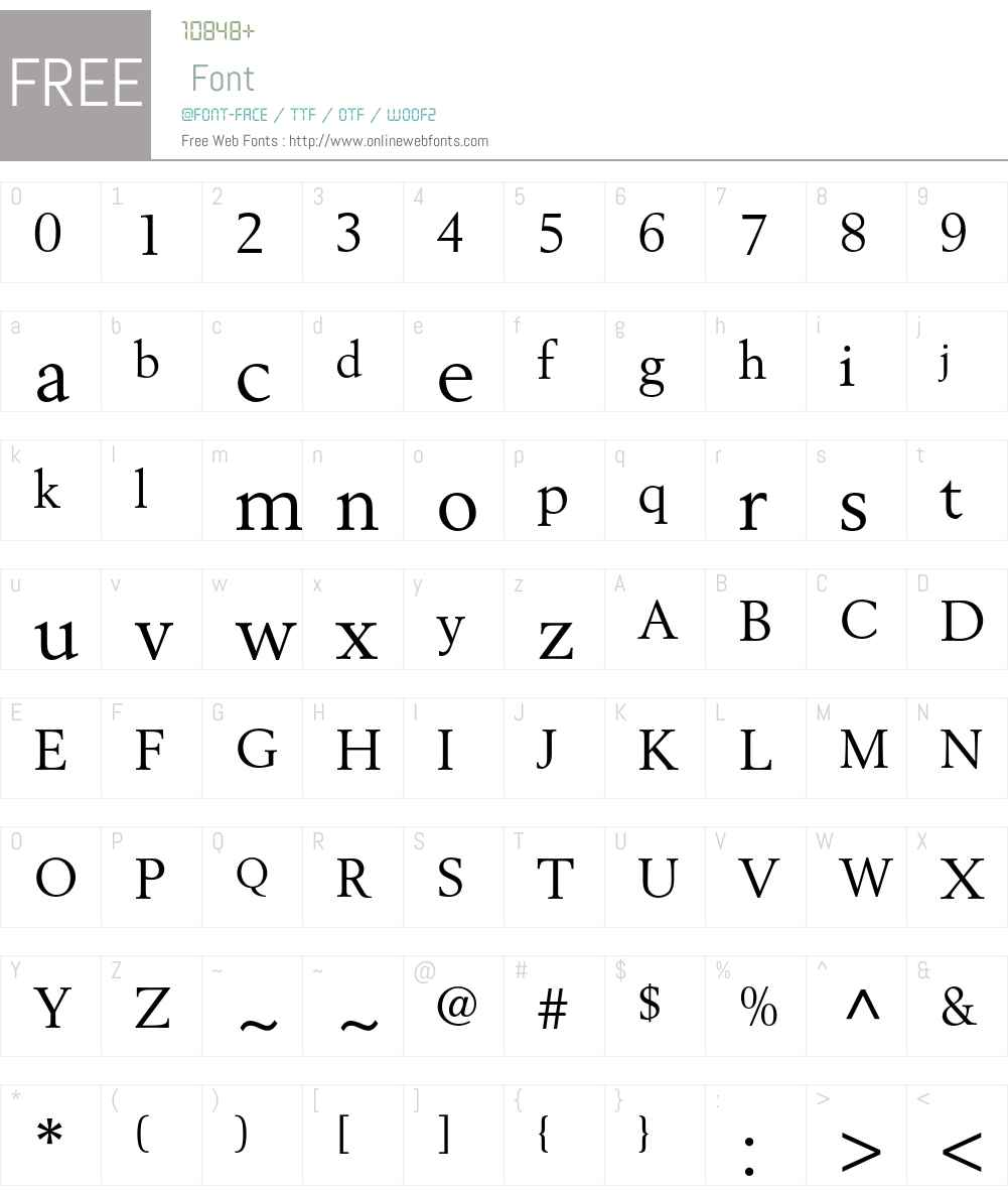 Berling LT Std Font Screenshots